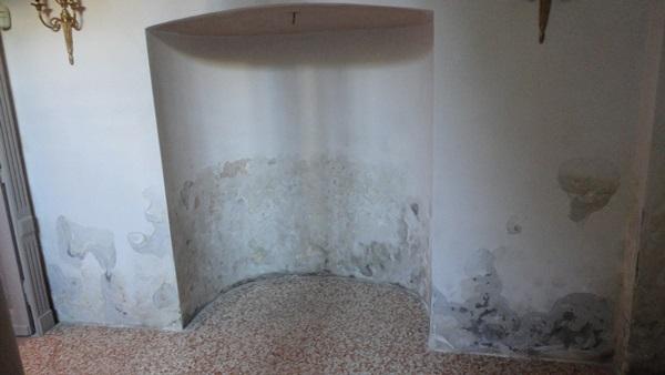 Umidità di risalita in una cascina a Cavallermaggiore