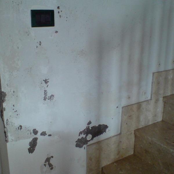 Umidità di risalita in una casa privata in provincia di Reggio Emilia
