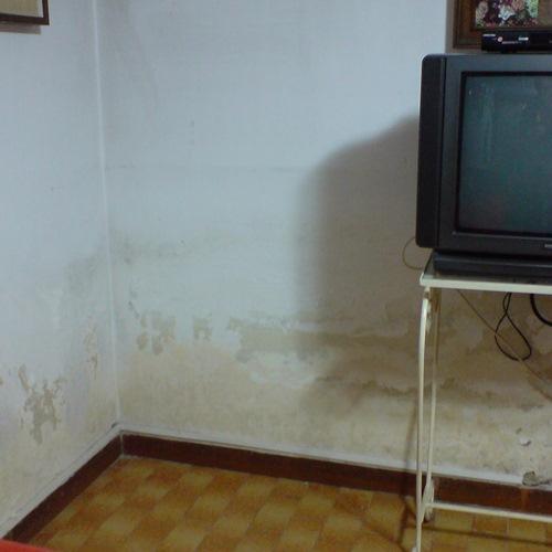 Umidità di risalita capillare in locale interrato a Bruino (TO)